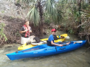 Austin and Levi prepare to embark on Juniper Springs Run