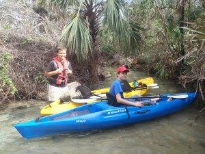 Austin and Levi prepare to embark on Juniper Springs Run