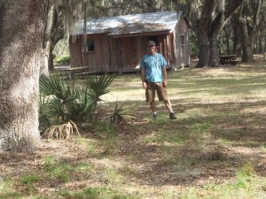Andy in front of McClean Cabin