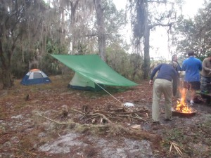 Andy's Hooch....using the screened portion of a backpacking tent with a tarp