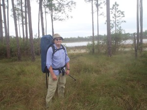 Bill Lippy in the Lake Wlaes Ridge.....Many isolated spring fed lakes dot the Ocala National Forest