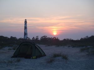 Beautiful sunset pic by Mike with a tent in the foreground