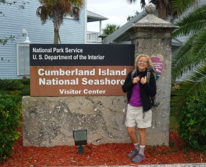 Gail at the National Seashore Visitors Center and Ferry Launch