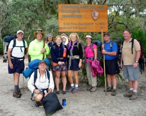 The Satisfied Hearty  Group of Backpacker's a Trips End
