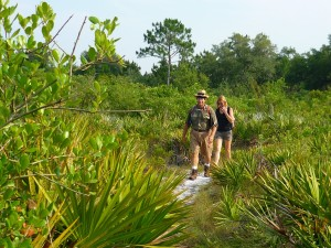 Dan and Margo breeze through a palmetto prairie
