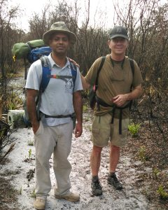 Andy and Rakib on the trail