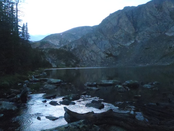 September Morn Lake Night 3 at 9600 feet